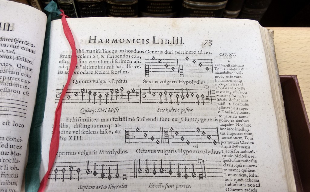 Footnotes in Johannes Kepler [1571-1630]: Harmonice mundi. (Linz, 1619) 'Harmony of the world'