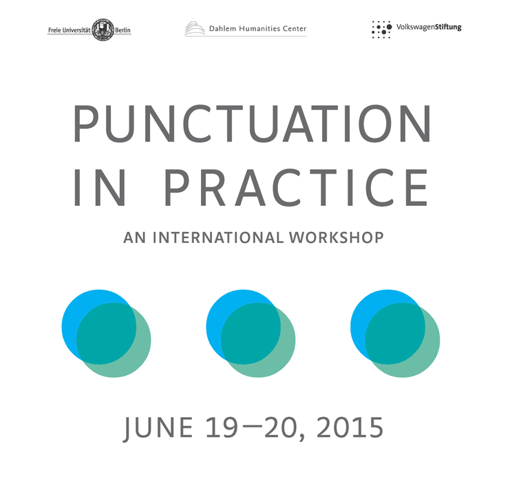 "Melanie Wiener's poster for ""Punctuation in Practice""."