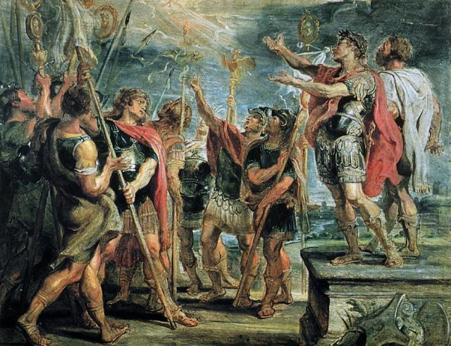 The Emblem of Christ Appearing to Constantine (1622) by Peter Paul Rubens