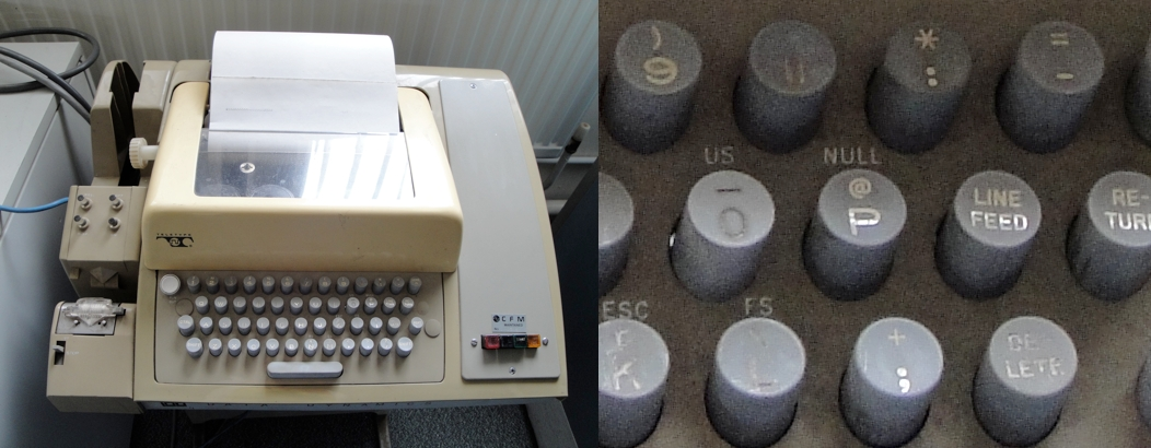 '@' key on Teletype model ASR-33 teleprinter