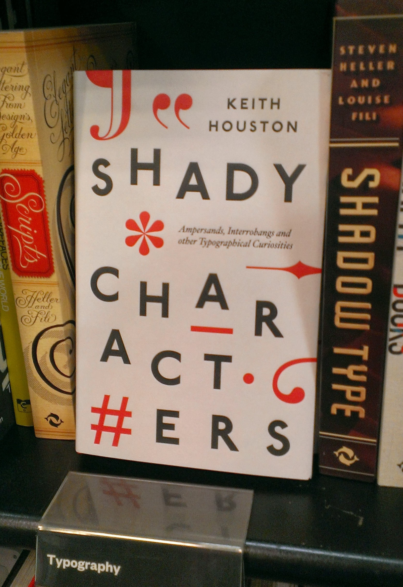 Shady Characters in Waterstones, Edinburgh. Picture by the author.