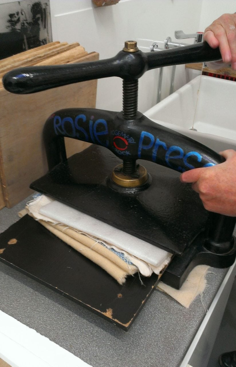 Pressing the paper