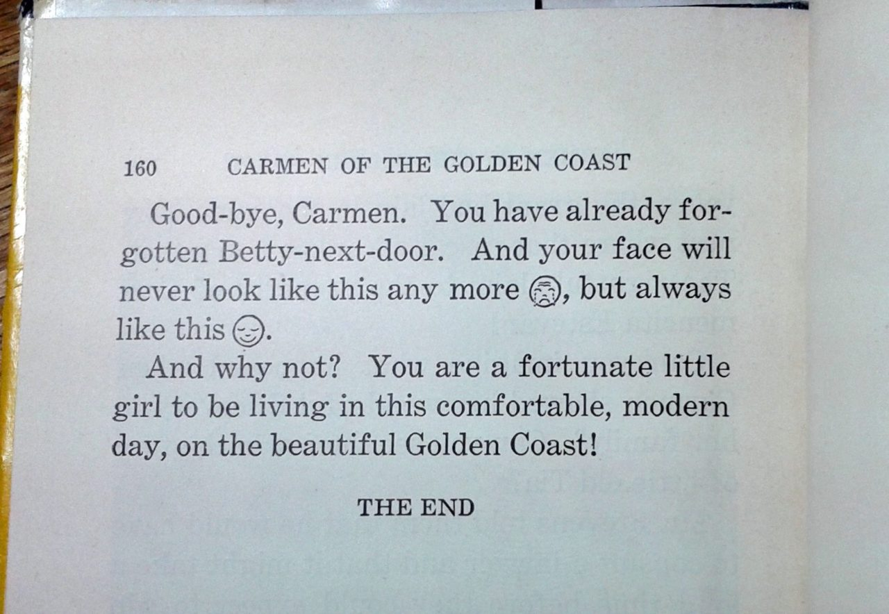 Typographic smileys in Carmen of the Golden Coast