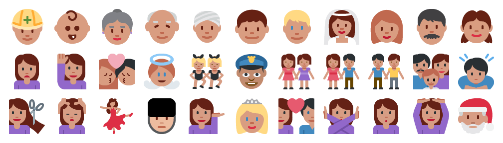 White people in Twitter's 2014 emoji