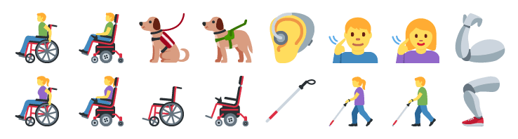 Disability-related symbols in Twitter's 2019 emoji