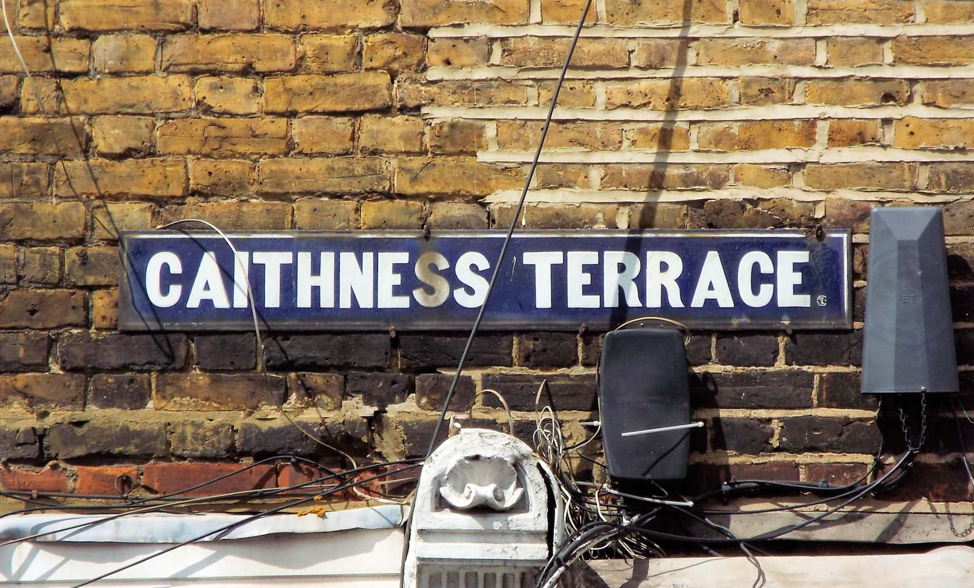 Street sign for Caithness Terrace, Tooting Bec
