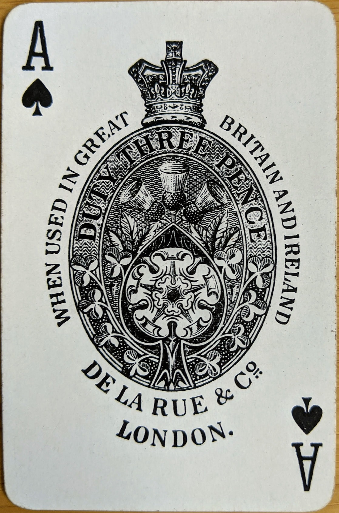 "Playing card showing abbreviation for ""Company"""