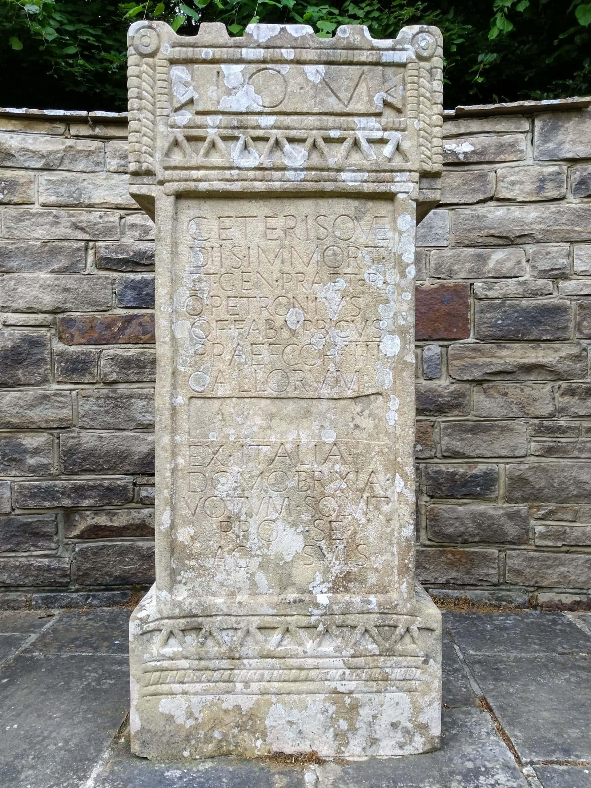 Reproduction of Roman altar at Vindolanda